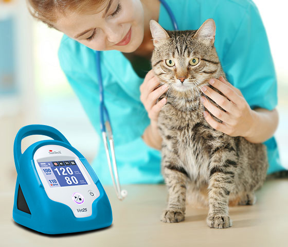 SunTech Vet25 product usage with cat