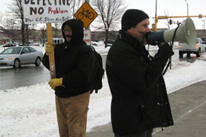 Man Protests Outside Drug Store Over Faulty BP Monitor